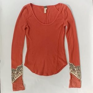 Free People Thermal Long Sleeve Shirt